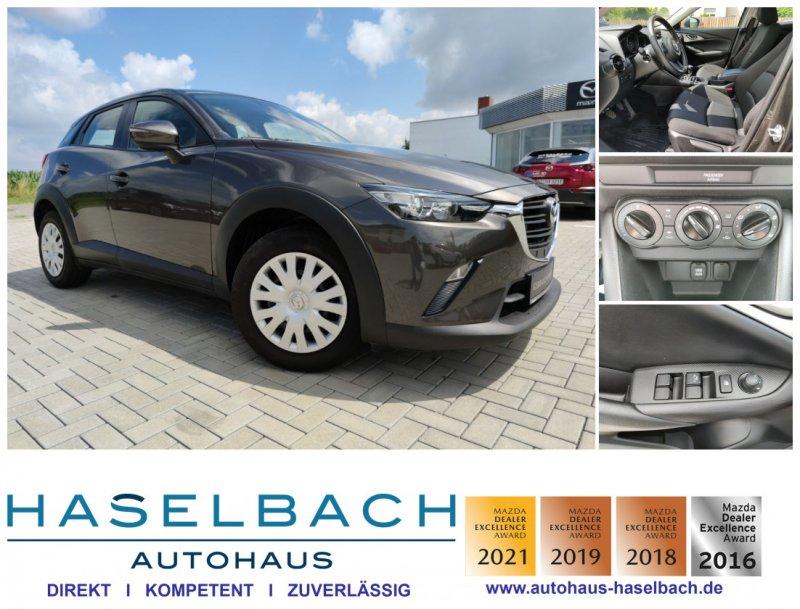 Mazda CX-3 Klima*el.Spiegel+Fenster*i-Stop*2.Hand*Scheckheft Prime-Line, Jahr 2018, Benzin