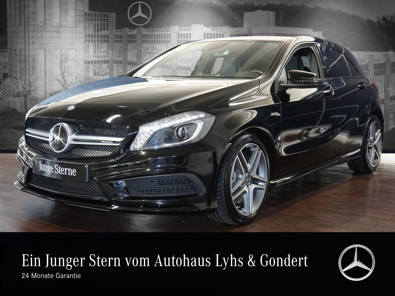 Mercedes-Benz A 45 AMG 4MATIC Perf. Sitze Comand Memory Kamera, Jahr 2015, petrol