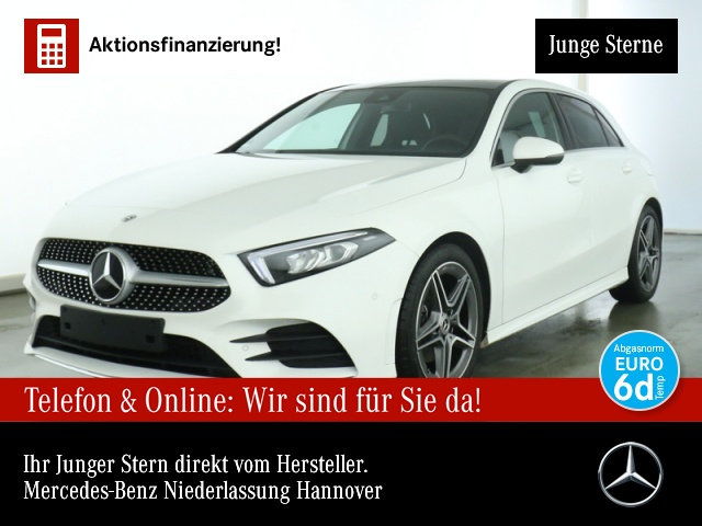 Mercedes-Benz A 200 AMG Pano Navi Premium LED Laderaump PTS Temp, Jahr 2020, Benzin