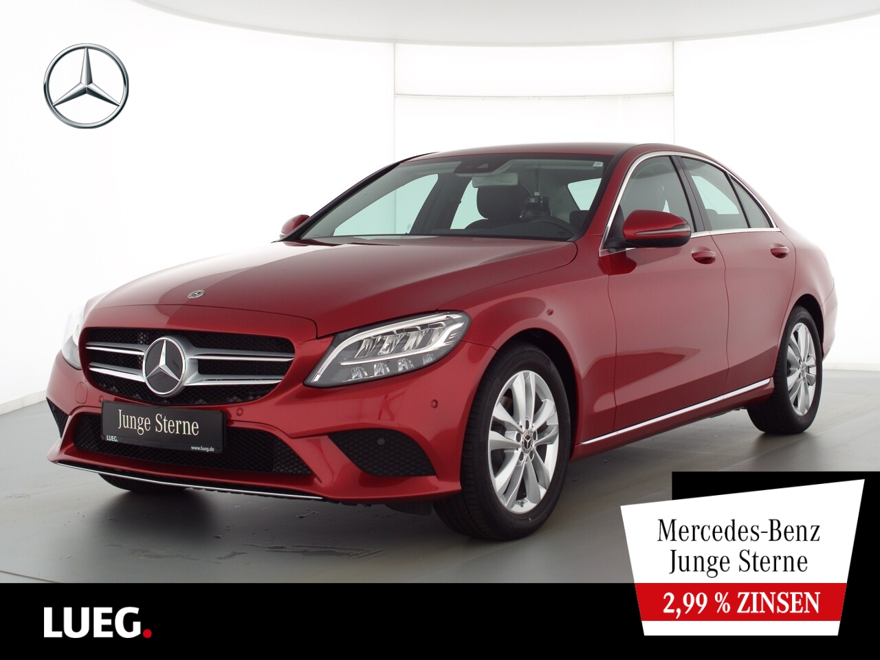 Mercedes-Benz C 180 Avantgarde+Navi+LED-HP+CarPl+ParkA+Kamera, Jahr 2020, Benzin