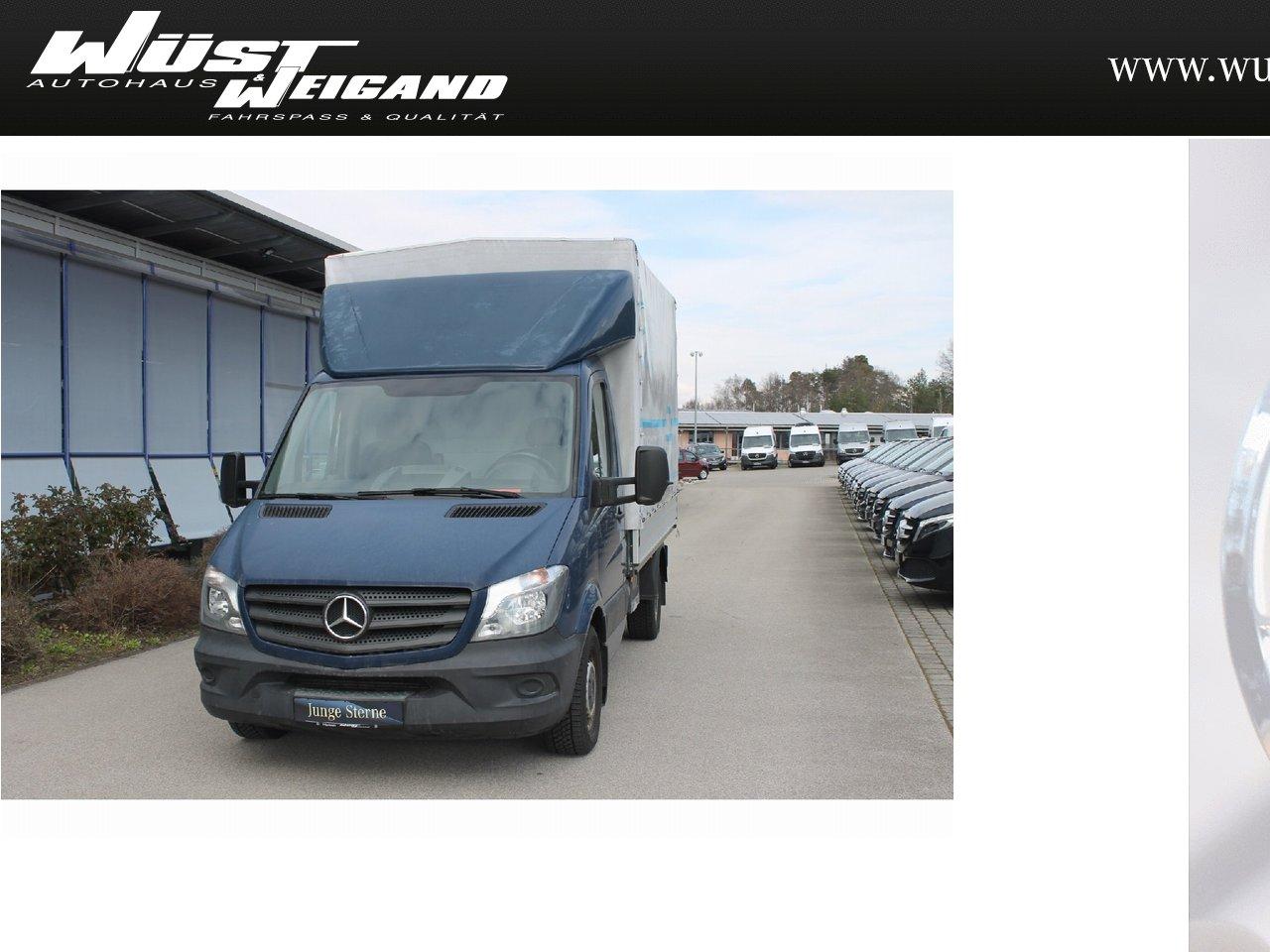 Mercedes-Benz Sprinter 313 CDI Pritsche+Plane+Klima+3 Sitze+L2, Jahr 2015, Diesel