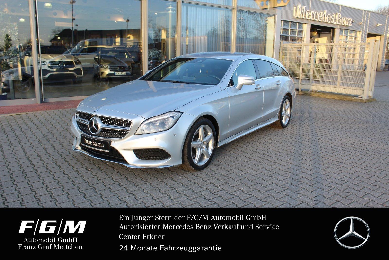 Mercedes-Benz CLS 400 4M SB AMG/COM/ILS/Distr/KeyGo/Standheizu, Jahr 2015, petrol