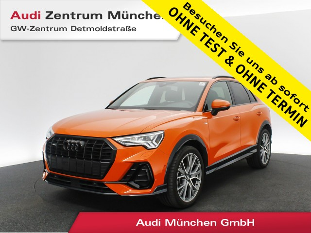 "Audi Q3 45 TFSI qu. S line edition one 20"" B&O Pano Virtual MatrixLED Navi Leder R-Kamera S tronic, Jahr 2020, petrol"