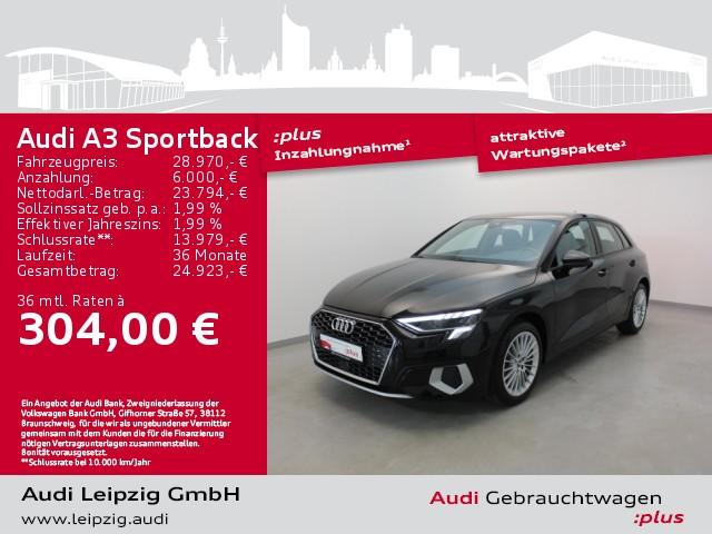 Audi A3 Sportback 35 TFSI advanced *LED*DAB*, Jahr 2020, Benzin