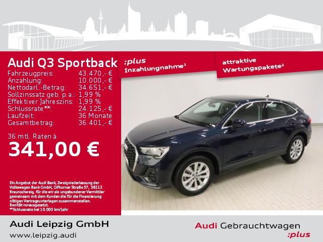 Audi Q3 Sportback 45 TFSI quattro *Sportfahrwerk*DAB*, Jahr 2020, Benzin