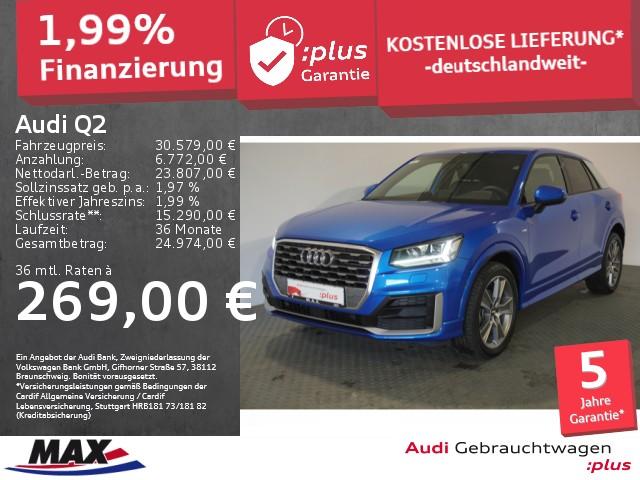 Audi Q2 35 TFSI SPORT 5J GAR+S LINE+LED+NAVI+ALU+PDC+, Jahr 2020, Benzin