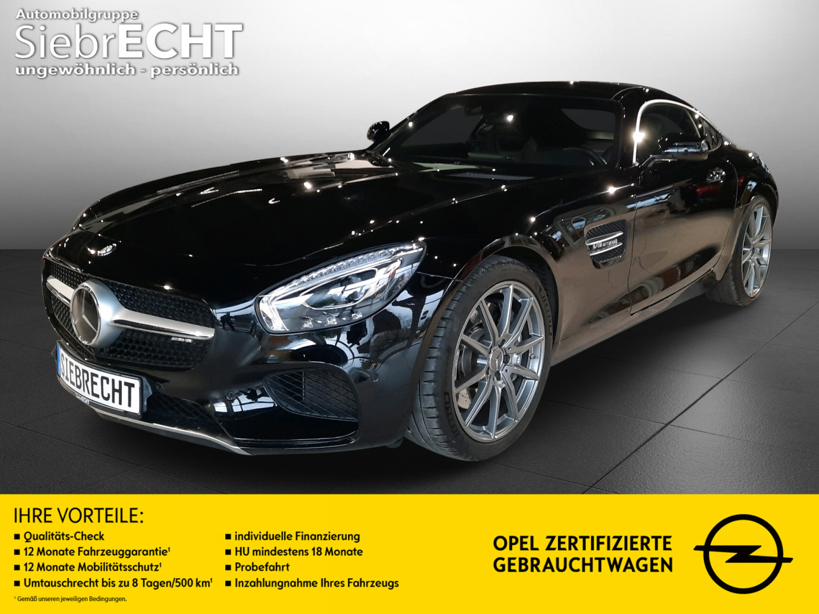 Mercedes-Benz AMG GT 4.0 V8 DCT*Leder*Panorama*Burmester*RFK*, Jahr 2016, Benzin