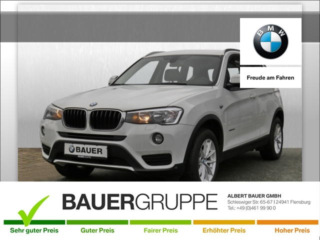 BMW X3 xDrive 20d Bluetooth Navi Klima PDC el. Fenster, Jahr 2015, Diesel
