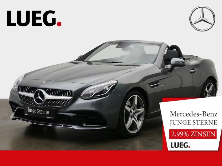 Mercedes-Benz SLC 180 AMG+Navi+Pano+LED-ILS+AIRSCARF+Totw+PTS+, Jahr 2019, Benzin
