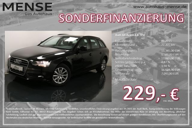 Audi A4 Avant 1.8 TFSI Navi GRA SHZG, Jahr 2015, Benzin