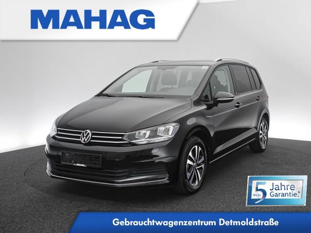 Volkswagen Touran UNITED 2.0 TDI 7-Sitzer Navi AHK AppConnect DAB+ Sitzhz. ParkPilot LightAssist FrontAssist 16Zoll 6-Gang, Jahr 2020, Diesel