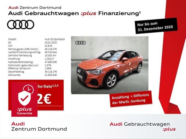 Audi Q3 Sportback 45TFSI qu. S line/LED/Black/Pano, Jahr 2020, Benzin