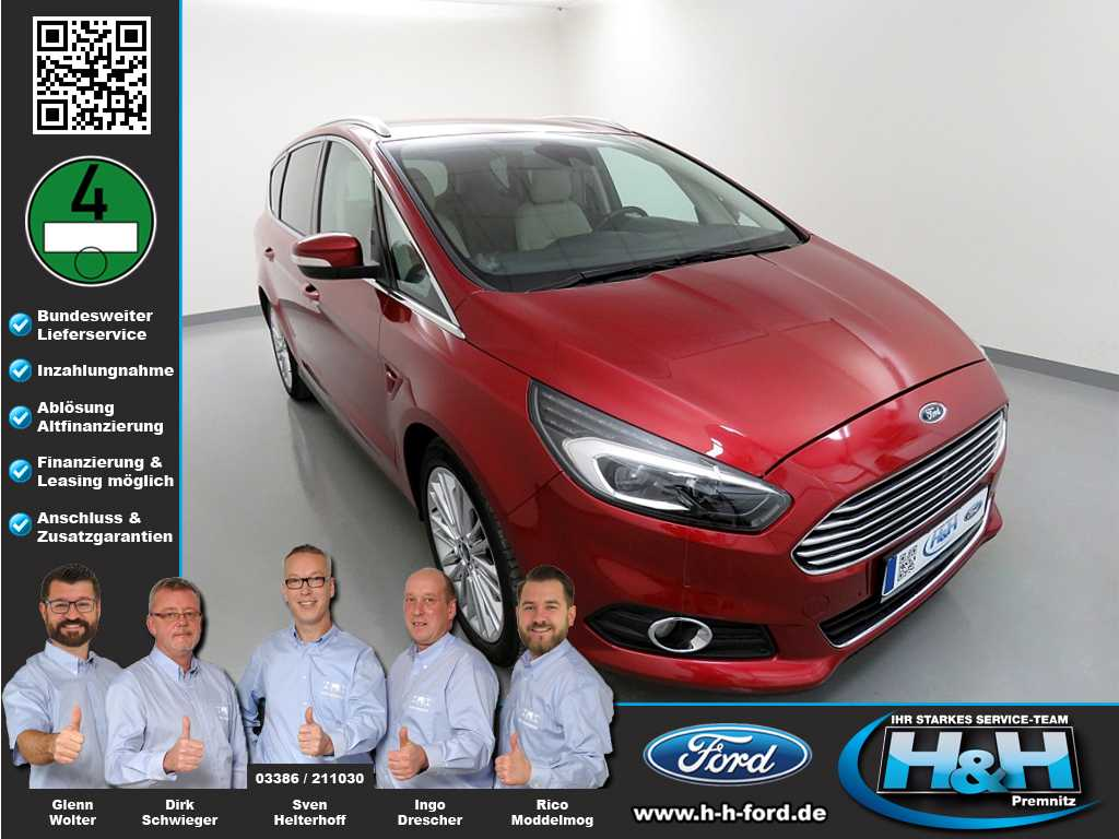 Ford S-Max 2.0 TDCi Aut. Titanium (AHK,LED,DAB), Jahr 2015, Diesel