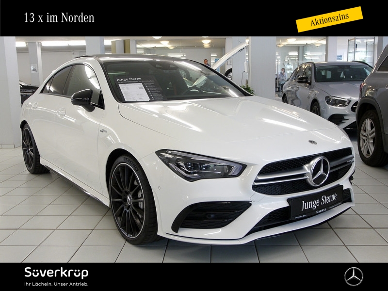 Mercedes-Benz CLA 35 4M Coupé AMG PANO KAMERA MBUX AHK LED, Jahr 2020, Benzin