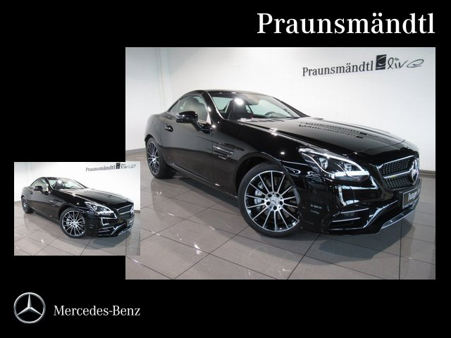 Mercedes-Benz SLC 43 AMG MEMORY/AIRSCARF/Sound/PANORAMA/Comand, Jahr 2018, petrol