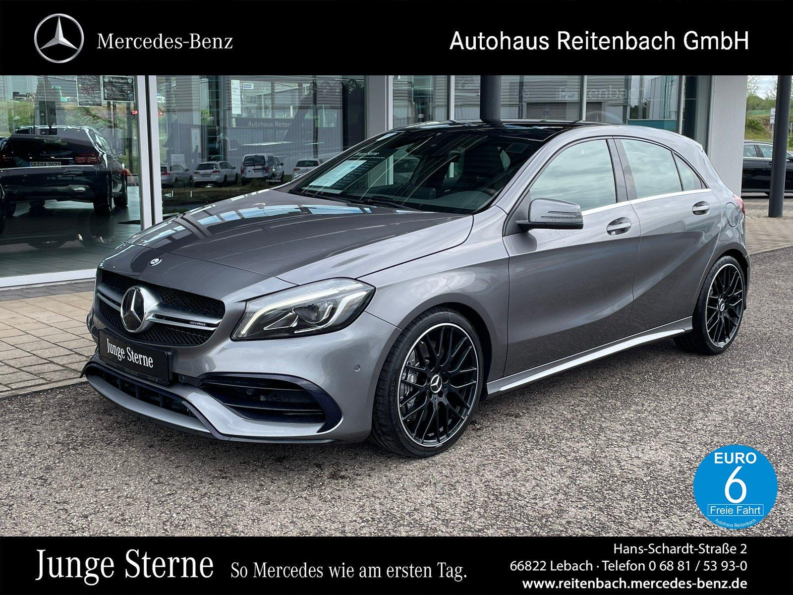 Mercedes-Benz A45 4M AMG+PANO+KAMERA+NAVI +KLIMA+LED+PTS+DISTR, Jahr 2015, Benzin