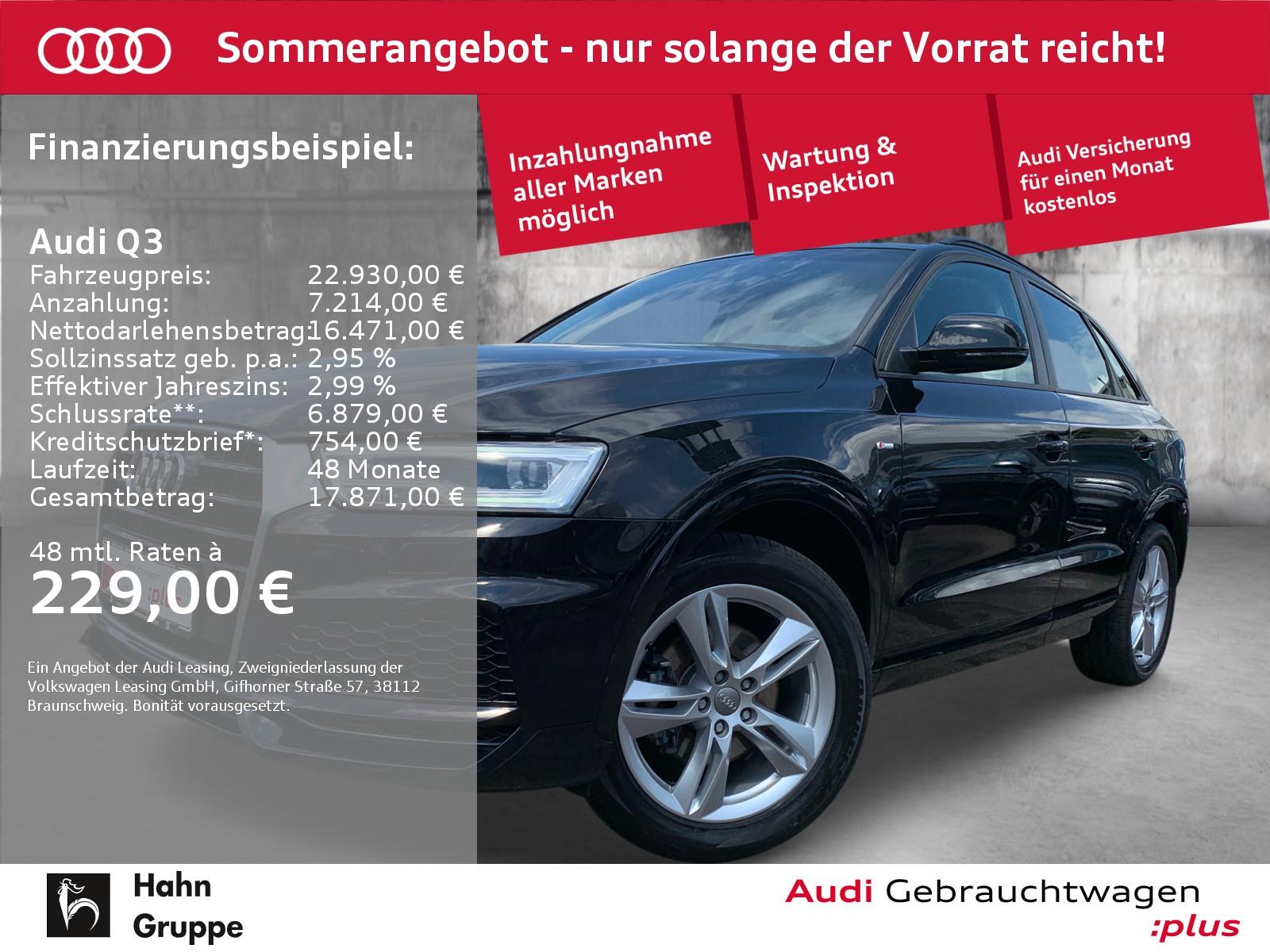 Audi Q3 1.4 TFSI S-line Navi LED Sitzh Einpark Tempo, Jahr 2018, Benzin
