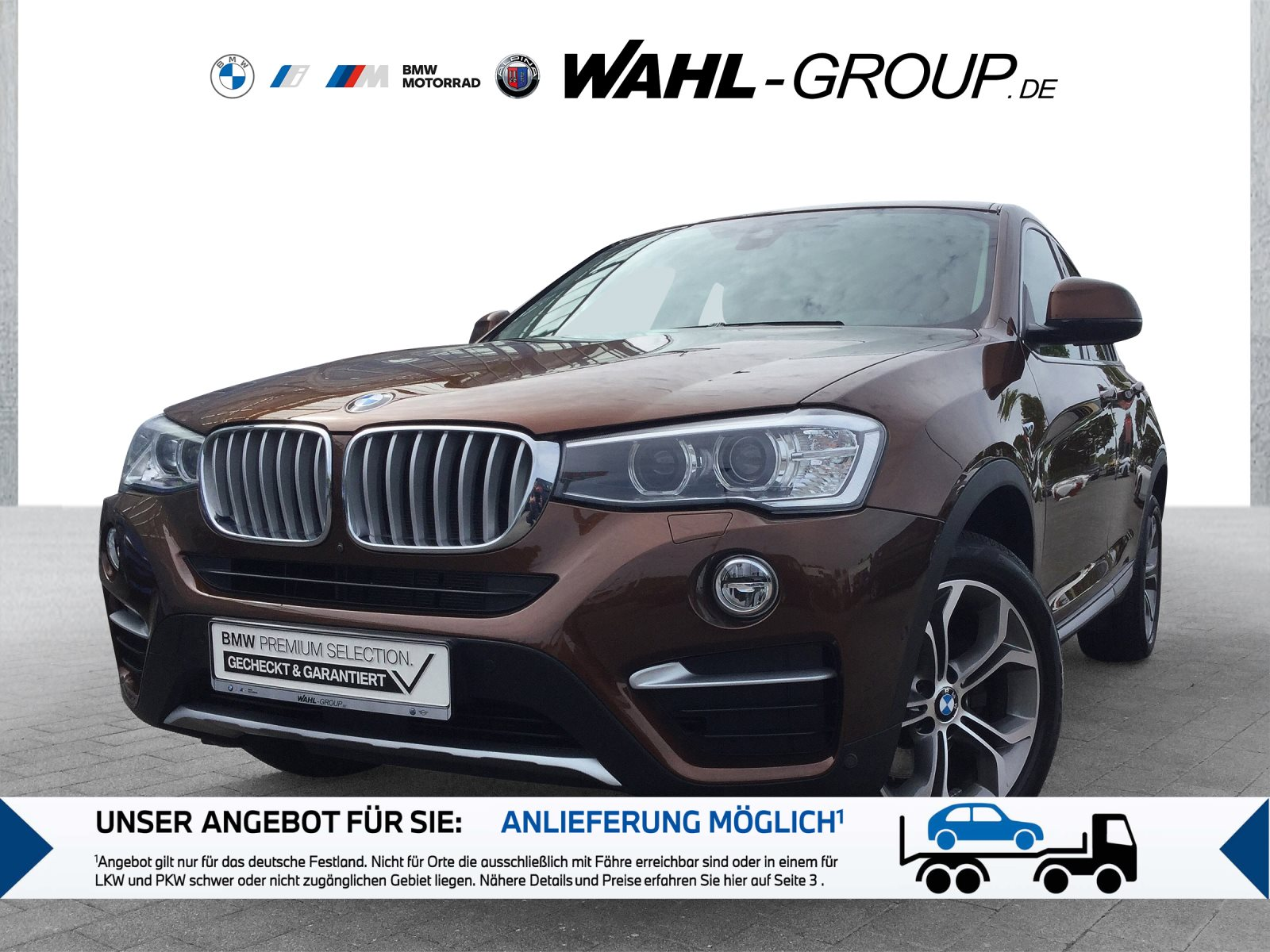 BMW X4 xDrive30d xLine Leder Navi Prof. AHK LM 18, Jahr 2018, Diesel
