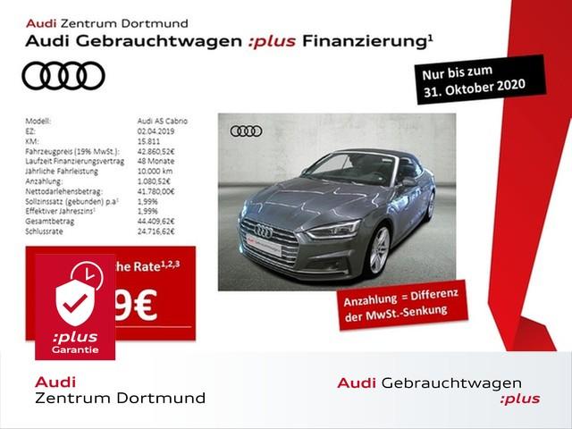 Audi A5 Cabrio 40TDI qu. 3xS line/LED/Navi+/ACC/eSitze, Jahr 2019, Diesel