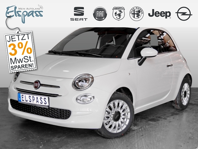 Fiat 500 Lounge 4J.GARANTIE SITZHZG KLIMA PDC 7'TOUCH, Jahr 2019, Benzin