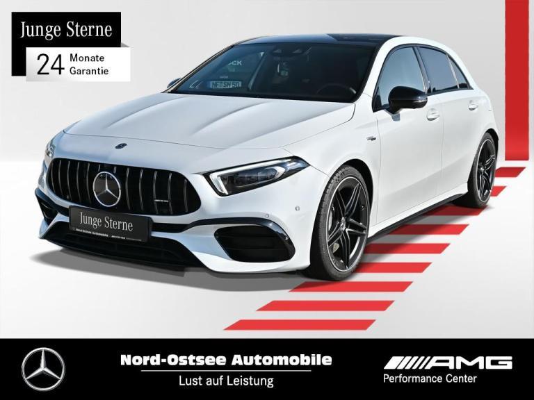 Mercedes-Benz A 45 AMG 4M Navi Pano 360° MBUX Distr. Multibeam, Jahr 2019, Benzin