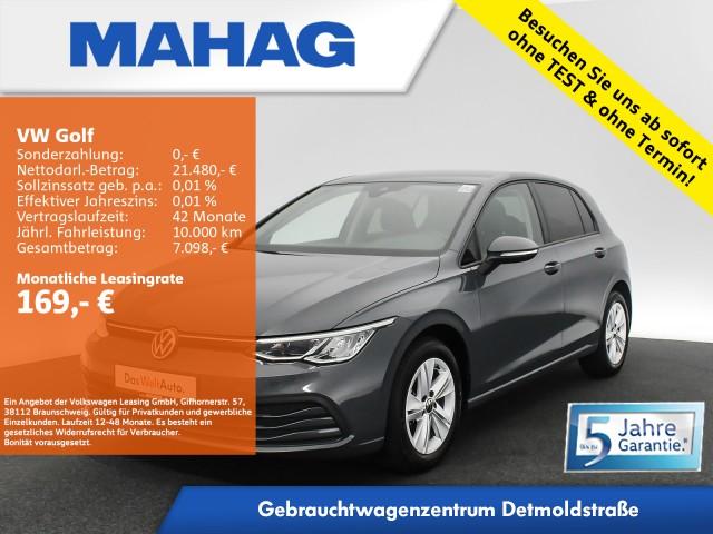Volkswagen Golf VIII LIFE 1.5 TSI NaviPro LED DigitalCockpit AppConnect DAB+ Sprachbed. LightAssist FrontAssist 6-Gang, Jahr 2020, Benzin