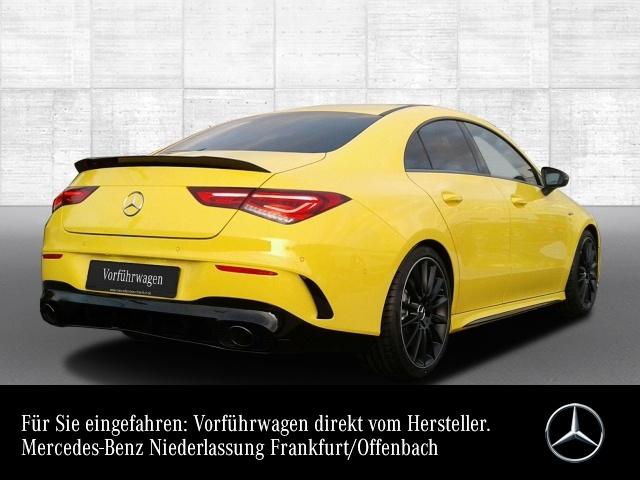 Mercedes-Benz CLA 35 AMG Cp. 4M AMG AeroPak Perf-Lenk Pano PTS, Jahr 2019, petrol