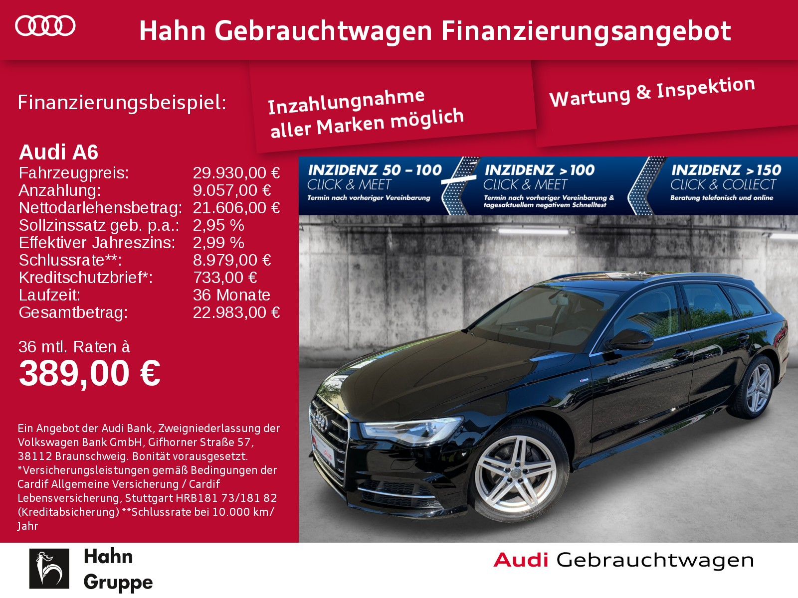 Audi A6 Avant 2.0 TDI qua. S-trc Navi Xen CAM Sitzh, Jahr 2018, Diesel