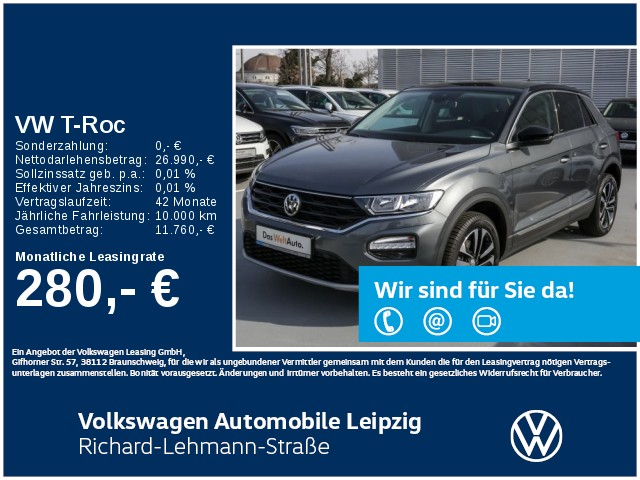 "Volkswagen T-Roc ""United"" 1.5 TSI ACT *AHK*Navi*Blind Spot*, Jahr 2020, petrol"