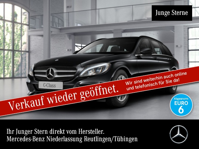 Mercedes-Benz C 160 T AHK Navi PTS Sitzh Sitzkomfort, Jahr 2016, Benzin