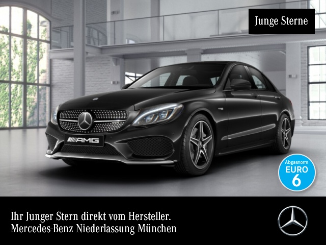 Mercedes-Benz C 43 AMG 4M Stdhzg Distr+ ILS LED Navi Totwinkel, Jahr 2016, petrol