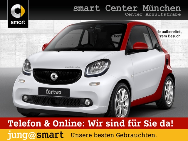 smart fortwo coupé 60kWed passion cool&Media SHZ LED, Jahr 2017, Elektro