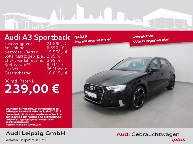 Audi A3 Sportback 2.0 TDI sport *Xenon*Navi*, Jahr 2018, Diesel