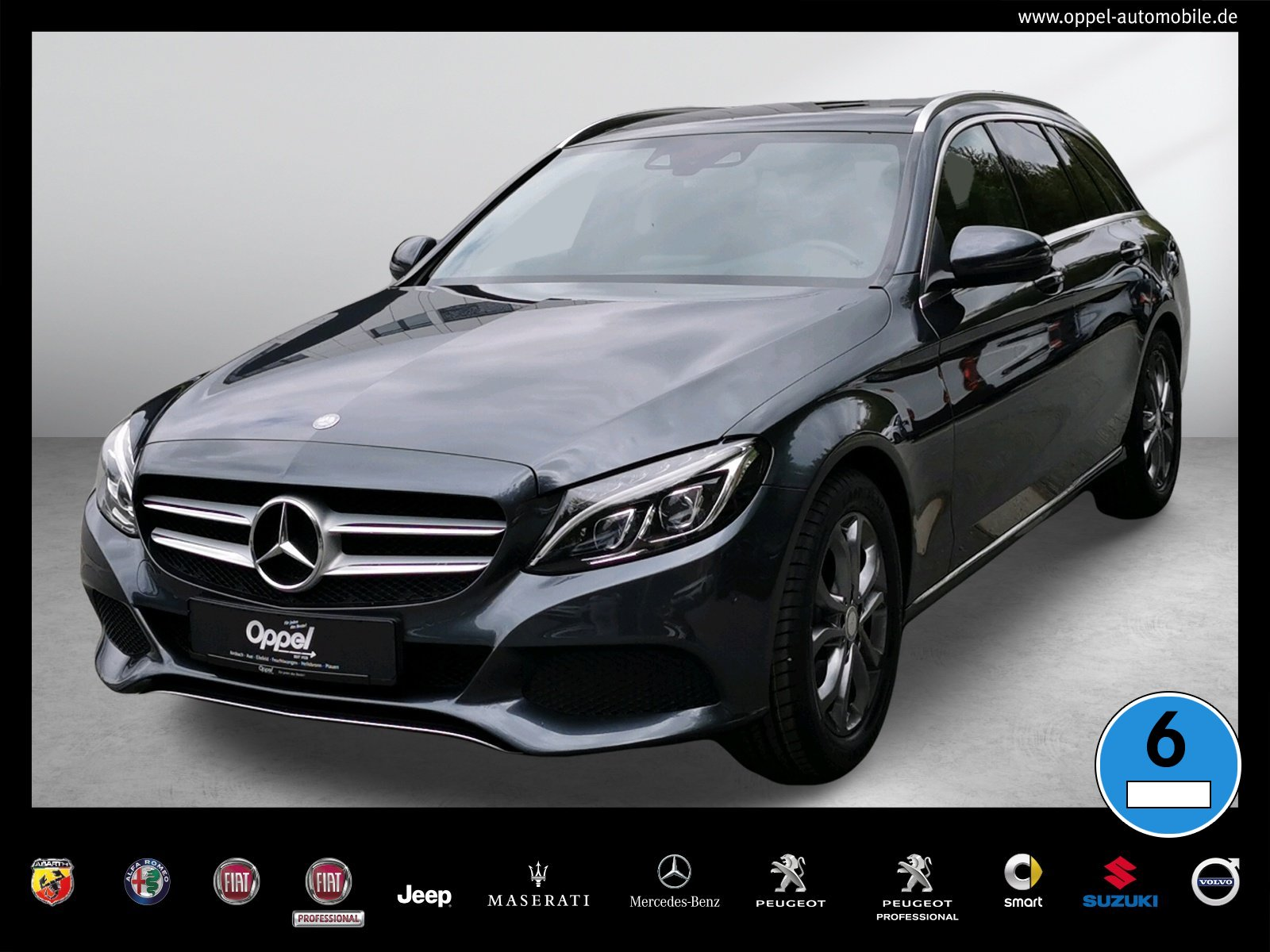 Mercedes-Benz C 200 T Avantgarde NAVI+PANO.-DACH+LED+SITZ-HZG+, Jahr 2016, Benzin