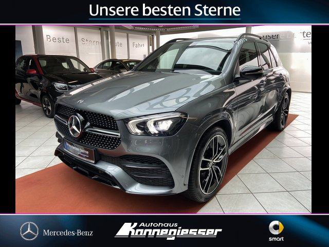 "Mercedes-Benz GLE 450 4M*AMG-LINE*NIGHT-PAKET*AIRMATIC*22""*AHK, Jahr 2020, petrol"