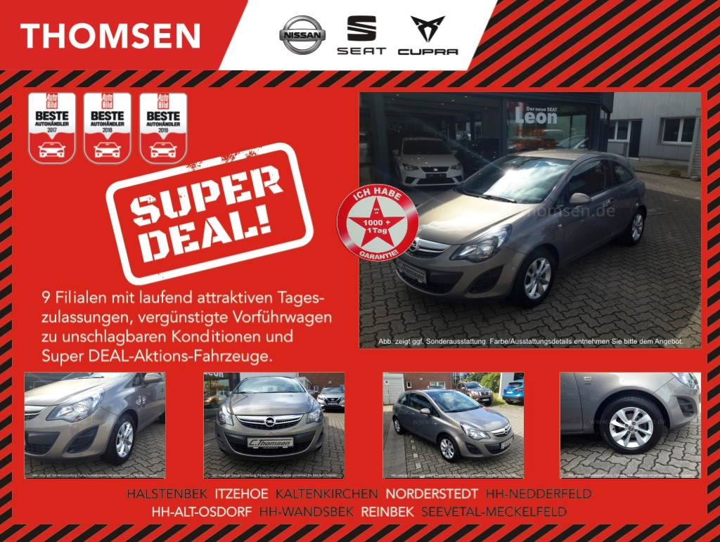 Opel CORSA Energy 3tg. 1.2 Radio/CD-ALU-8Fach ber., Jahr 2014, Benzin
