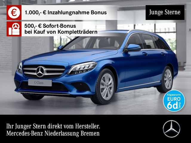 Mercedes-Benz C 200 d T Avantgarde LED Kamera Spurhalt-Ass PTS, Jahr 2019, Diesel