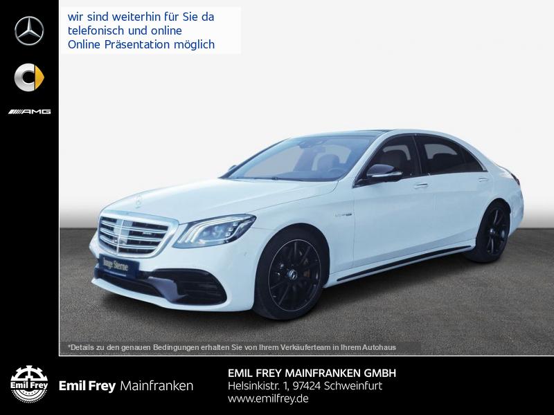 Mercedes-Benz S 63 AMG L 4M+Keramik+Night+Leder braun+PANO, Jahr 2018, Benzin