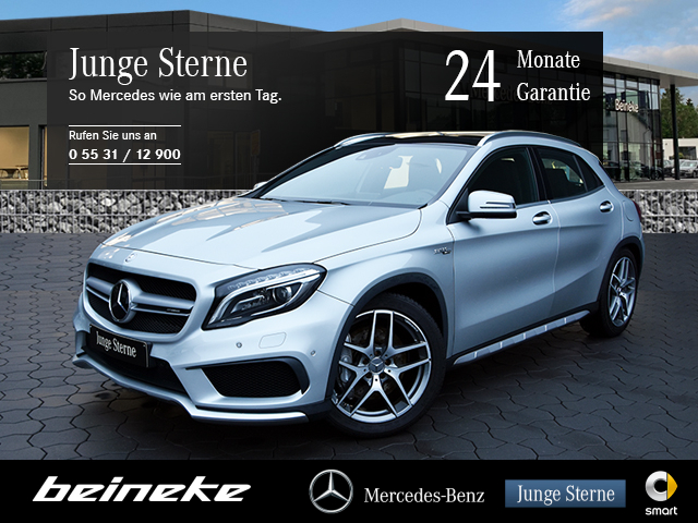 Mercedes-Benz GLA 45 AMG 4M Edition 1 COMAND Pano Distr.Memory, Jahr 2014, Benzin