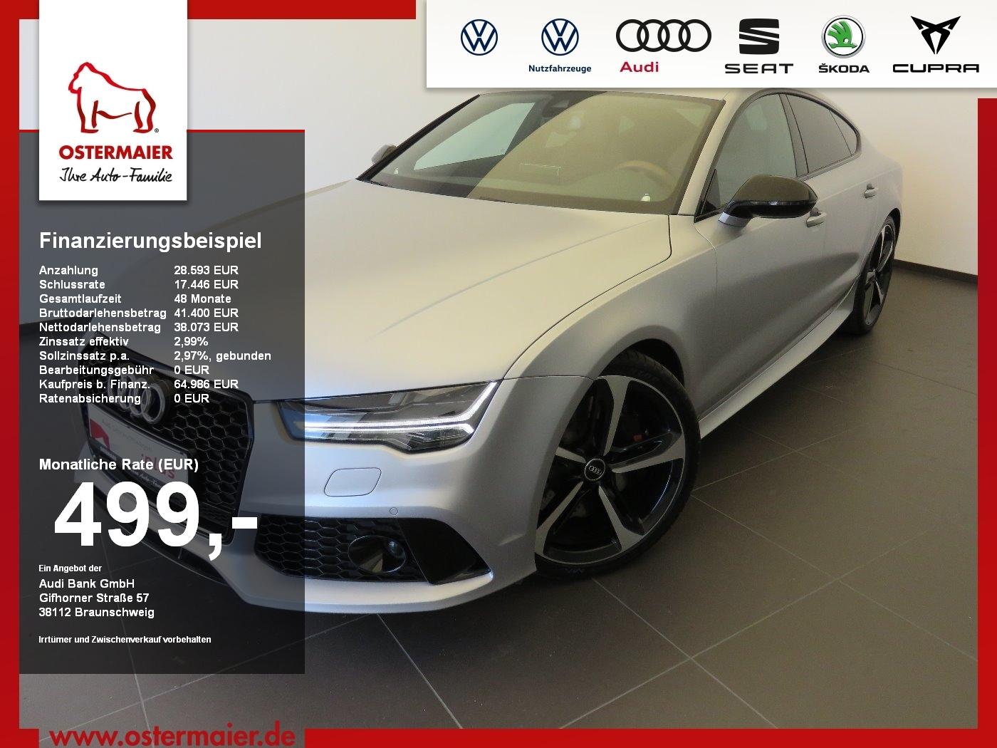 Audi RS7 Sportback 4.0TFSI 560PS QUATTRO NP:159tEUR S, Jahr 2015, Benzin