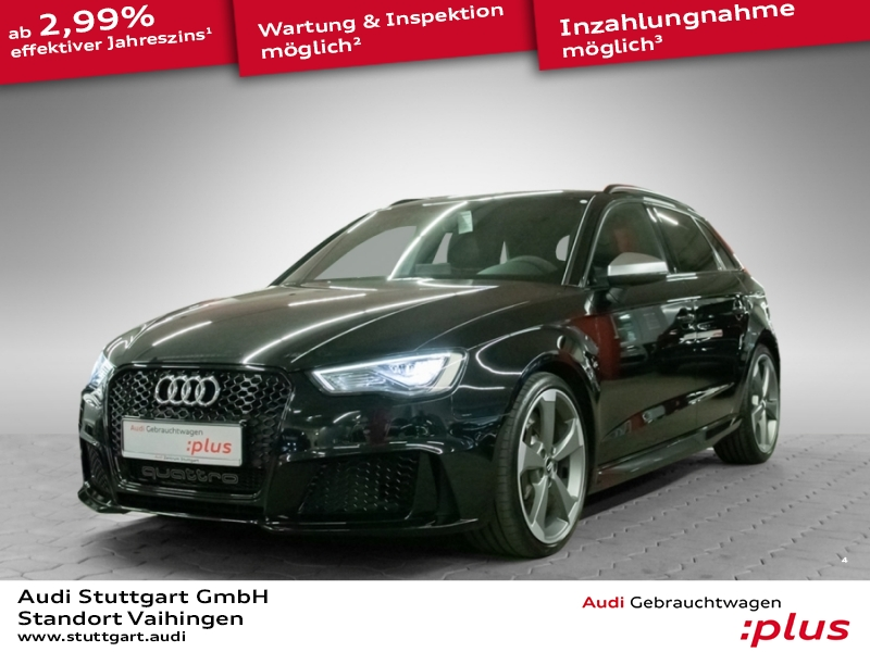 Audi RS 3 Sportback 2.5 TFSI q B&O Pano Auspuffanlage, Jahr 2016, petrol