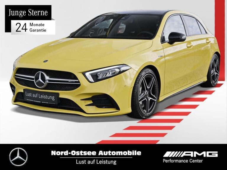 Mercedes-Benz A 35 AMG 4M Navi Night Pano LED Kamera MBUX SHZ, Jahr 2020, Benzin