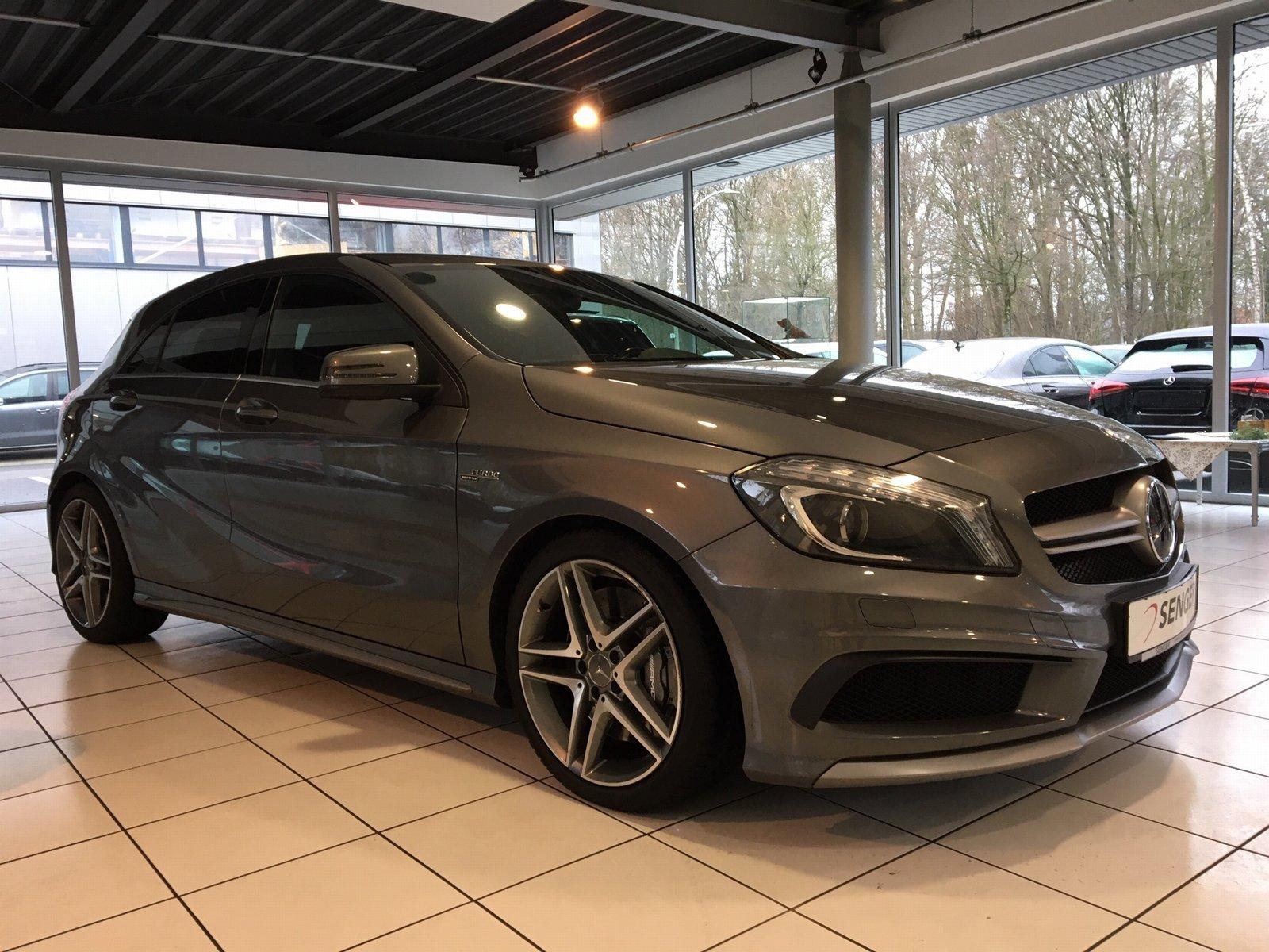 Mercedes-Benz A 45 AMG 4M *Performance*Exklusiv*Navi*Bi-Xenon*, Jahr 2013, petrol