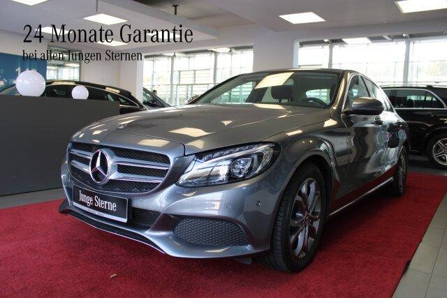 Mercedes-Benz C 180 AVANTGARDE+LED+Sitzhzg+Autom+AHK bis 400KG, Jahr 2017, Benzin