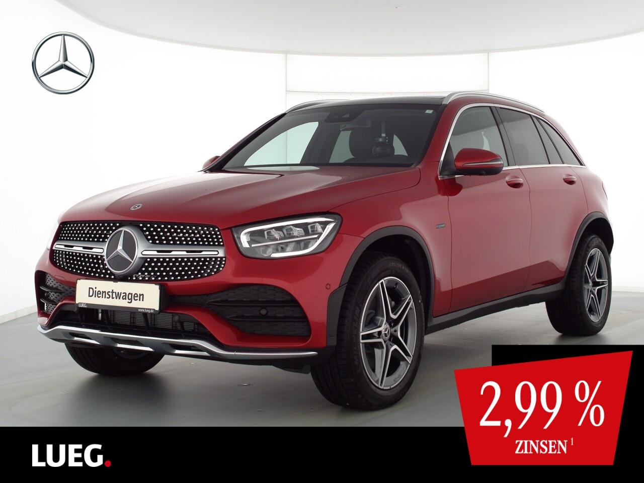 Mercedes-Benz GLC 300 de 4M AMG+PANO+AHK+TOTW+360°+KEYLESS+PTS, Jahr 2021, Hybrid_Diesel