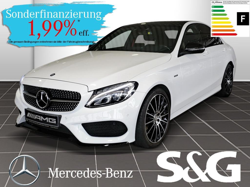 Mercedes-Benz C 450 AMG 4MATIC Distronic/Navi/PanoDach/LED/, Jahr 2016, Benzin