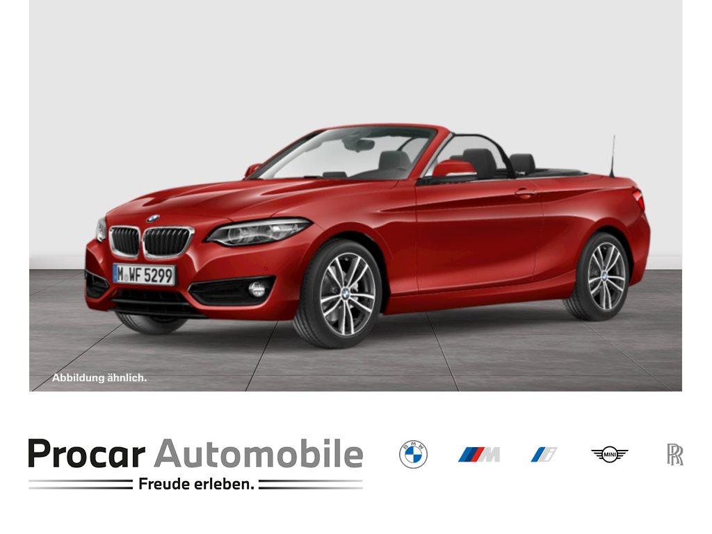 BMW 220i CABRIO++SPORT-LINE++SITZH++PDC++NAVIGATION++HIFI, Jahr 2018, Benzin