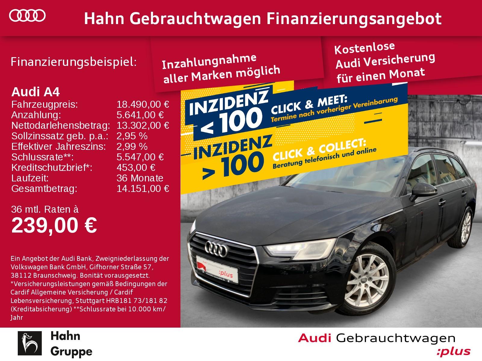 Audi A4 Avant 2.0TDI Navi Xen Sitzh Tempo Einpark, Jahr 2017, Diesel