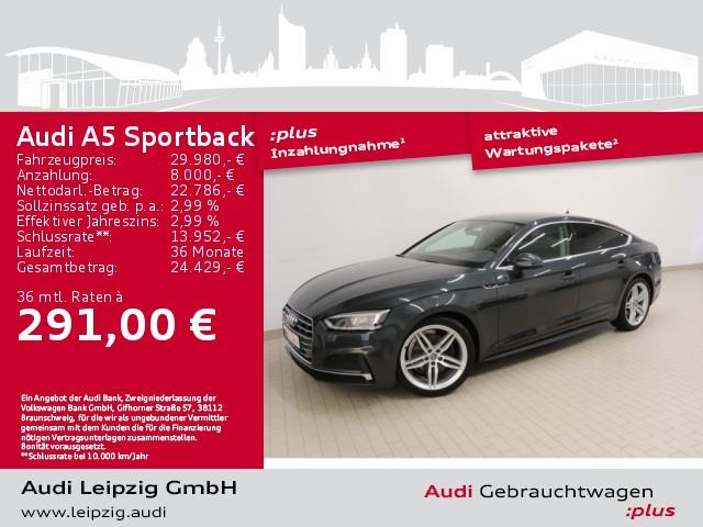 Audi A5 Sportback 2.0 TDI sport *S line*LED-Paket*BT*, Jahr 2018, Diesel