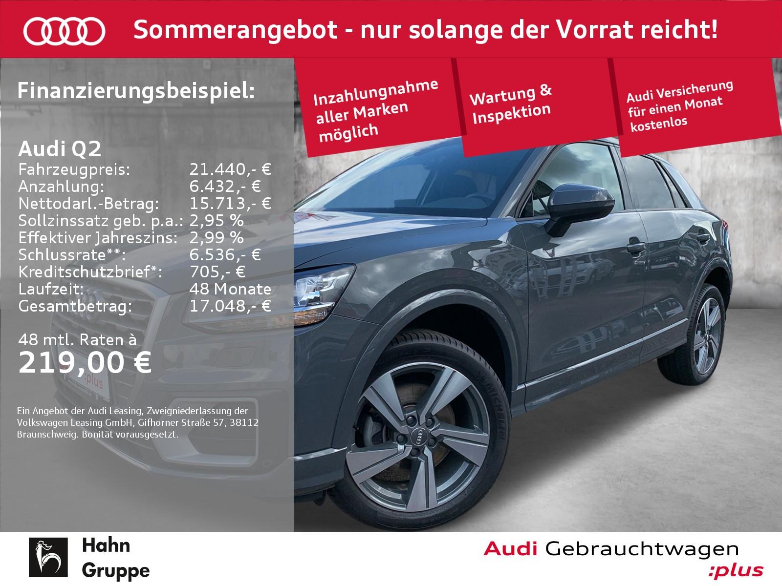 Audi Q2 1.6TDI Sport Navi ACC Lane Einparkh Sitzh, Jahr 2017, Diesel